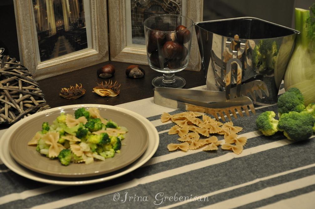 Paste farfale cu broccoli și fenicul