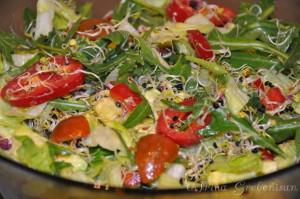 Salata iceberg cu avocado si lastari