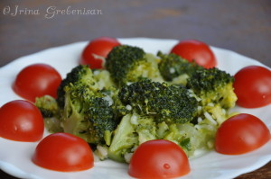 Broccoli cu apio si orez