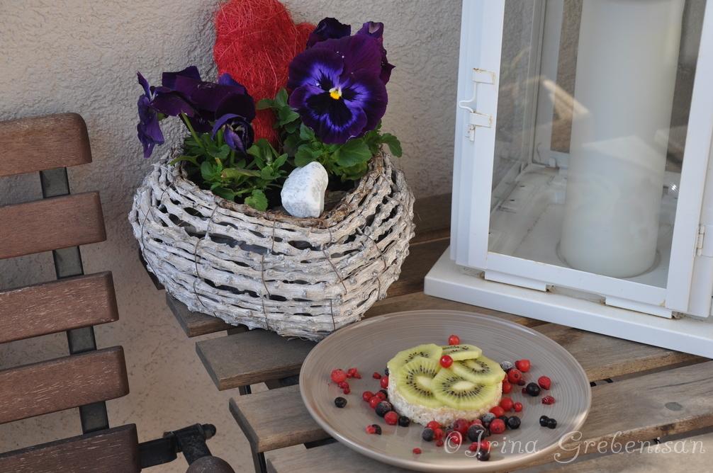 Kiwi-Red currant cake